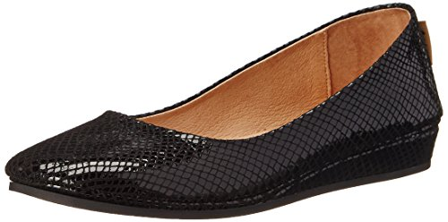 French Sole FS/NY Women's Zeppa Slip-On Loafer,Black Snake Print,8.5 M US (Sole Suede French Flats)
