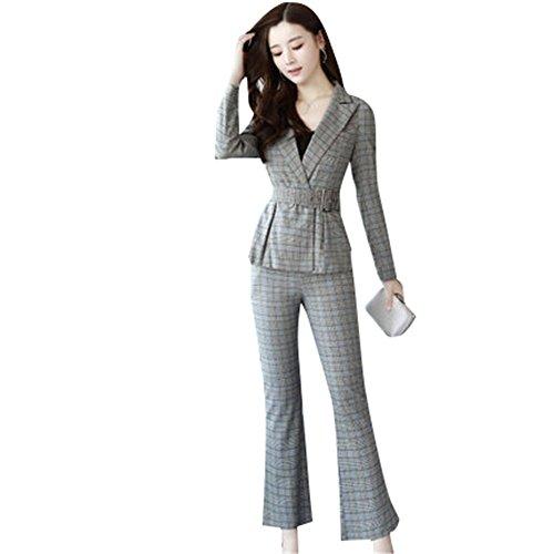 多数の接続された解くスーツ パンツ セレモニースーツパンツスーツ チェック格子2点セットフォーマル リクルート スーツ[並行輸入品]