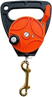 simhoa Portable Scuba Diving 150' Dive Reel - Kayak Anchor - Tech Spool - 2 Colors - Or
