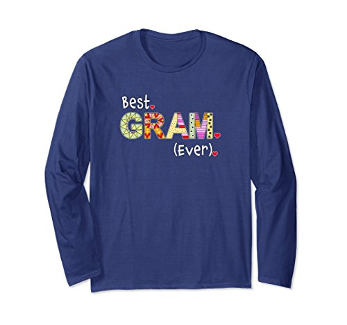 Unisex Best Grandma Gift Ideas - World's Best Gram Ever Medium Navy