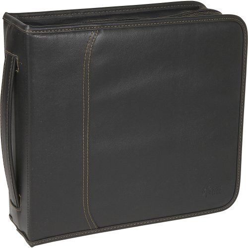 Case Logic Cd Wallet . Book Fold . Koskin . Black . 208 Cd/Dvd