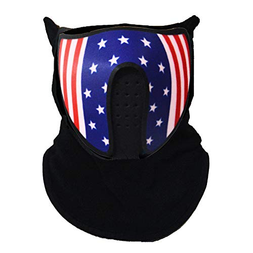 Music LED Party Mask with Sound Active Cool Mask Rave Mask American Flag Pattern for Dancing, Riding, Skating, Party