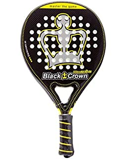 Black Crown Piton 7.0 Soft - Pala de Padel, Adultos Unisex, Negro/Amarillo