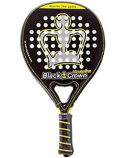 Black Crown Piton 7.0 Soft Pala de Padel, Adultos Unisex, Negro Amarillo, L