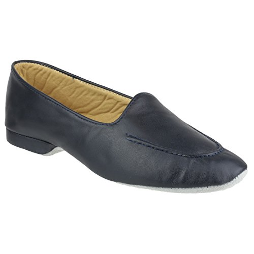 Cincasa Menorca Fornells Ladies Slipper Black Navy