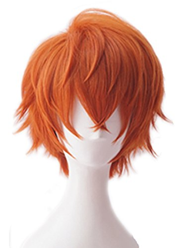 Topcosplay Short Wig Halloween Cosplay Costume Orange Wig 84