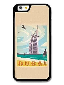 Colourful Dubai India Retro Travel Poster case for iPhone 6