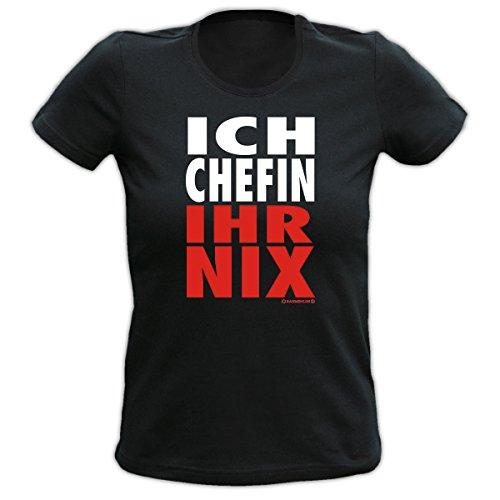 Ich Chefin! Ihr nix! Fun T-shirt Fb schwarz