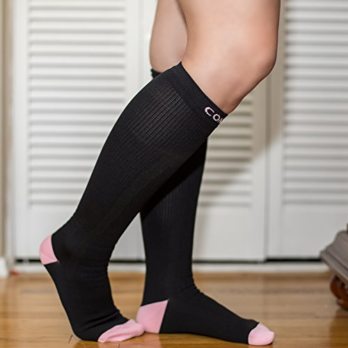Compression Socks for Men & Women, Best Pair of Graduated Fit for Runners, Nurses, Flight, Travel, & Pregnancy. Increase Circulation, Boost Stamina, & Recovery. by Compsox (Image #4)