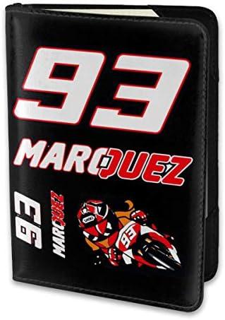 マルク・マルケス MotoGP バイク王 パスポートケース メンズ レディース パスポートカバー パスポートバッグ 携帯便利 シンプル ポーチ 5.5インチ PUレザー スキミング防止 安全な海外旅行用 小型 軽便