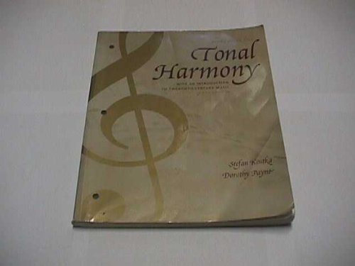 Workbook for Tonal Harmony: With an Introduction to Twentieth-Century Music