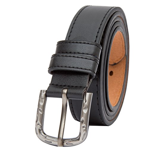 "Beltox Fine Women's Solid Stitched Belt 1.1"" Wide Alloy Buckle with Gift Box"
