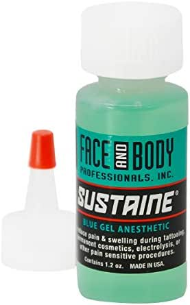 Sustaine Blue Gel During Procedure Anesthetics Original NUMBING Cream 1.2 OZ