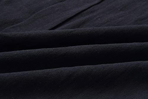 Primavera Negro Playa Fiesta Mujeres Otoño Manga Vestidos Cuello de Cóctel Partido Larga V Midi Moda Vestido de aawrUnp