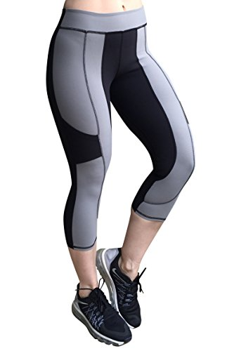 Sexy Workout Capris, Fitness Yoga Capris, Hidden Pocket (Small)