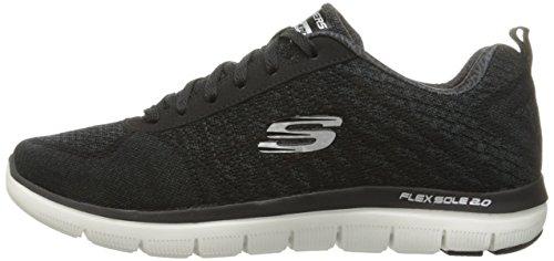 2 Point 43 Herren 9 Skechers Sneakers nbsp;Golden Flex Advantage BKW EU UK Schwarz 0 BStnnqAYaw