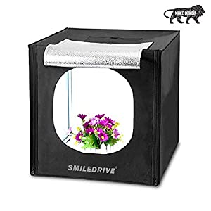 Smiledrive Portable Professional Photo Lighting Booth Box Studio with 2 Led Lights - Made in India