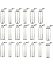 Frcolor 20pcs Clear Plastic Empty Bottles with Flip Cap Travel Bottles Containers for Any Liquid Products Shampoo Toiletries Lotion Multi Purpose Refillable Bottles
