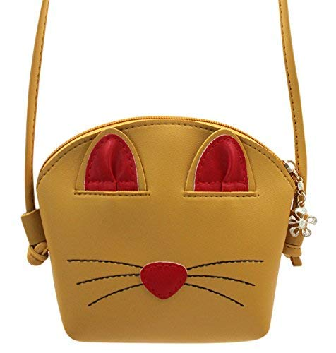 Tassel 4 Bag Cute Crossbody Girls Bag Kids Satchel Small Shoulder Yellow 3X5 5 15 for or Purse Cat B Coin 9in Messenger 1in Mini HqAqnr5xzw