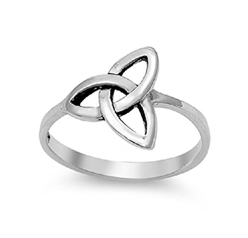 Sterling Silver Wicca Triquetra Ultimatum Ring