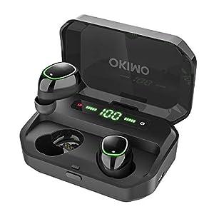 【LEDディスプレイ Bluetooth イヤホン 】 ワイヤレスイヤホン 電池残量インジケーター付き