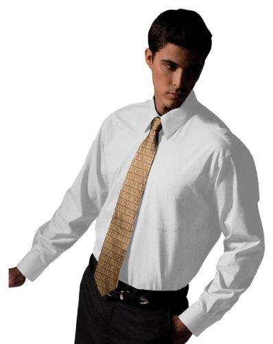 - Edwards Garment Men's Point Collar Long Sleeve Oxford Shirt, White, XX-Large 35