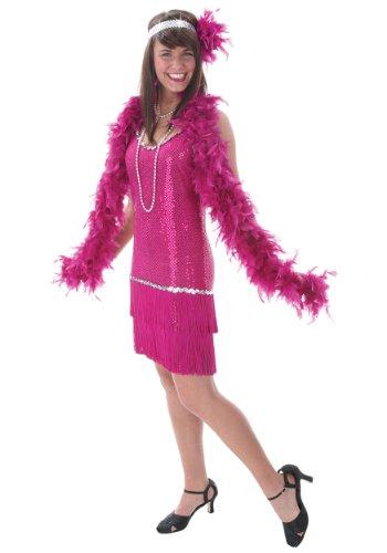 Fuchsia Flapper Dress (Fun Costumes womens Plus Sequin & Fringe Fuchsia Flapper 1X)