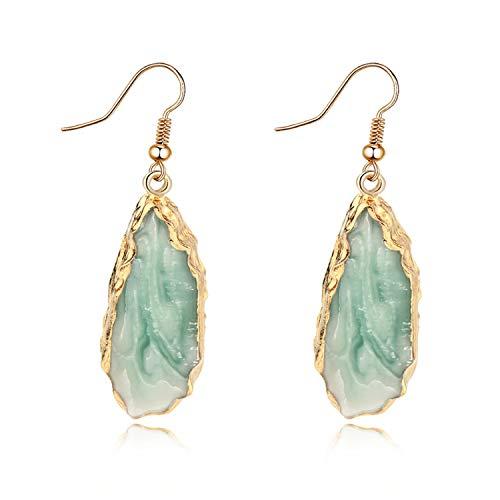 HANBINGPO Resin Carnelian Gold Hook Dangle Earrings Women Jewelry Charms Cute Elegant Eardrop Wide Simple Earrings