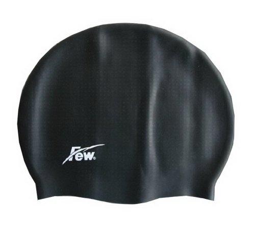 Black Swim Cap for Men Waterproof Swim Cap (Water Polo Gear)