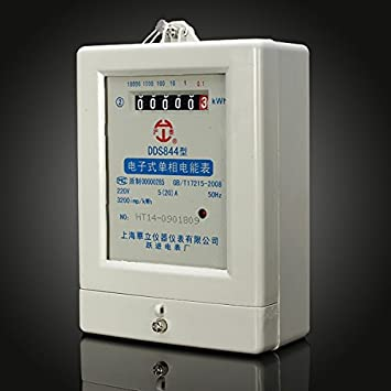 DDS844 5(20)A 220V 50HZ Single Phase Two Wire Electric Energy Meter ...
