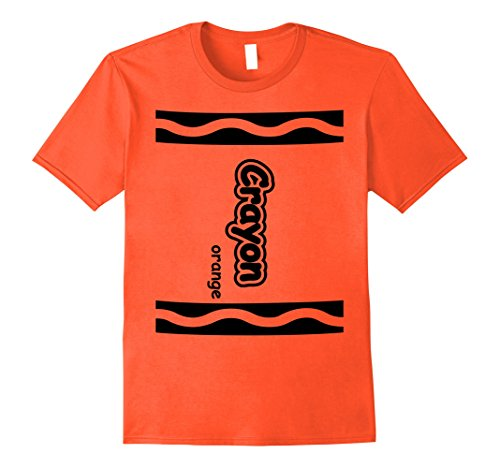 Cute Easy Group Costume Ideas (Mens Orange Crayon Easy Halloween Costume Cute T-Shirt XL Orange)