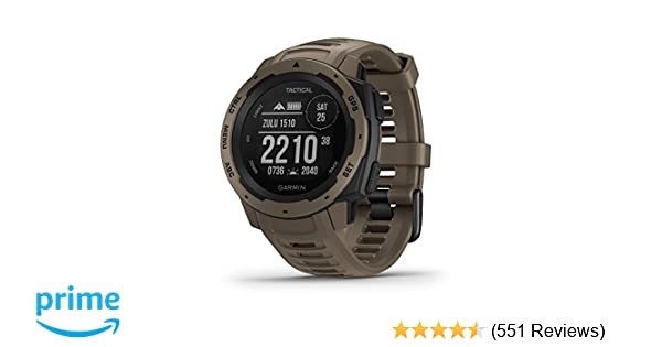 Garmin Instinct Tactical, Rugged GPS Watch, Tactical Specific Features, Constructed to US Military Standard 810G for Thermal, Shock and Water ...