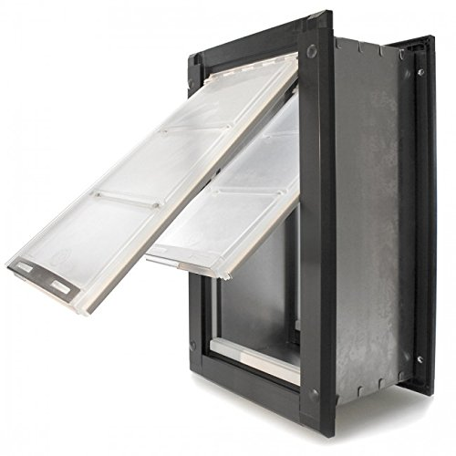 Large Bronze Pet Patio - Endura Flap Extra Large Wall Mount - Bronze Double Flap 12