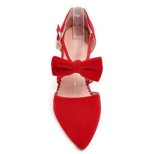 Red Bowtie Pointu Sandales Femmes Bout RAZAMAZA qz8XBwOx