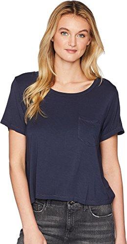 - Splendid Women's Rayon Jersey Crop Pocket Tee Navy Large