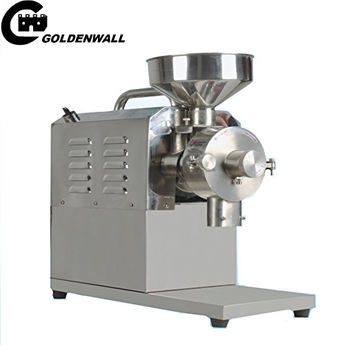 CGOLDENWALL SY-1200 with pedesta Small Stainless steel grain mill Food Processing Machinery Multi Function Grain Grind Mill superfine grain grinderPowdering machineLapping machine (220V) by CGOLDENWALL