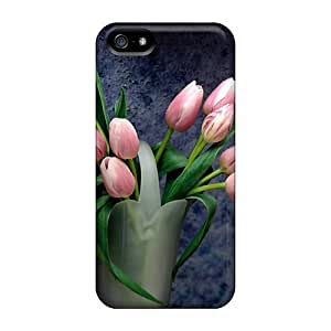 [xOjExkP1uaShP]premium Phone Case For Iphone 5/5s/ Tulips Tpu Case Cover