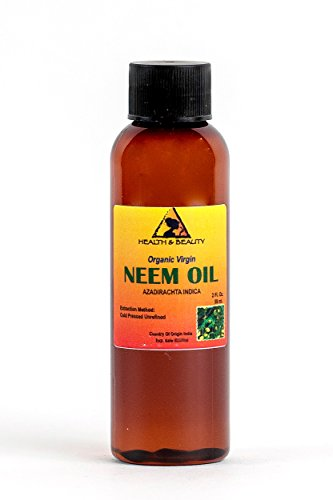 Neem Oil Organic Unrefined Concentrate Virgin Raw Cold Pressed Pure 2 oz