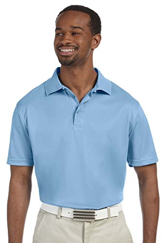HARRITON Herren Polytech Short Sleeve Polo Shirt Gr. Medium, Hellblau