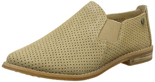 (Hush Puppies Women's Analise Clever Flat, Light Tan Suede Perf, 11 W US)