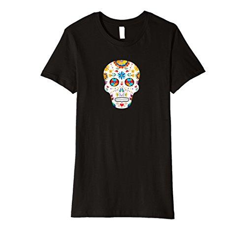 Womens Day of the Dead Sugar Skull Dia De Los Muertos Halloween Tee XL (Pretty Sugar Skull Halloween Costume)