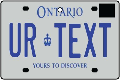 Personalized Ontario License Plate Car Air Freshener