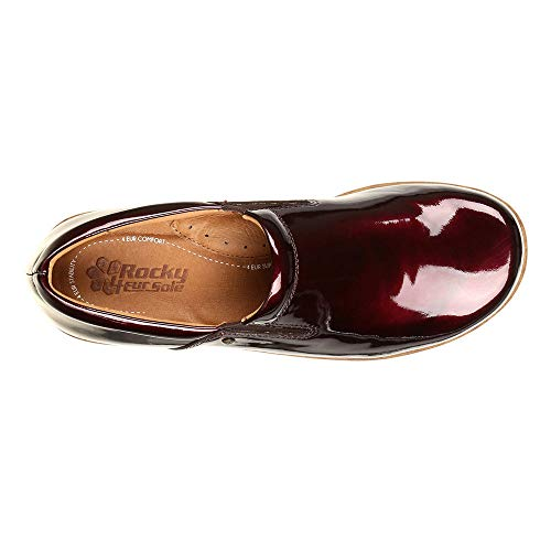 Slip Shoe Burgundy 4EurSole Comfort Women's RKH218 4ever patent on wIqHPC