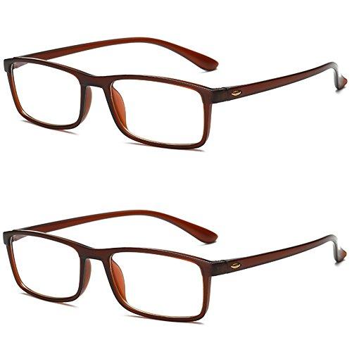 TR90 1 Negro Protección 0 Lectura de 5 3 2 Gafas Luz Hombres VEVESMUNDO Leer Azul 1 Graduadas 2 Vista Antifatiga Marrón 3 5 0 Flexibles Lejos Set 4 0 Gafas 0 5 Marrón 2 Mujeres qxwP00ATa