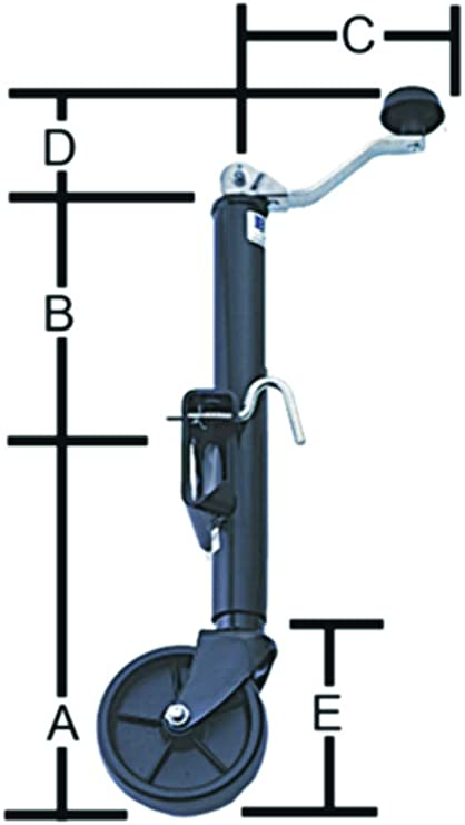 BAL R.V Products Group 29005 800 Lbs Tongue Jack Swivel for Fleetwood