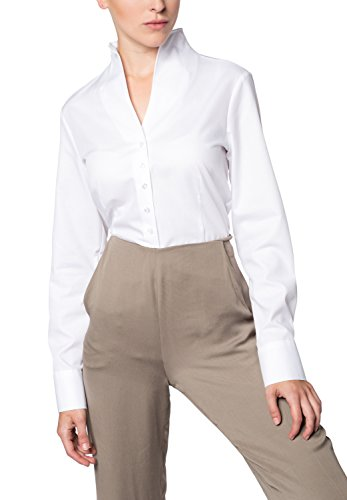 ETERNA long sleeve Blouse COMFORT FIT uni blanco