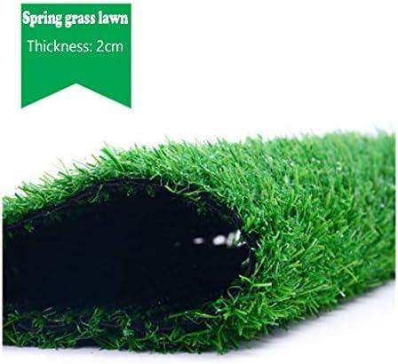PING- 人工芝マット、 フェイクスプリングマット 高密度合成芝生カーペット 屋外の屋内緑の芝生 パイル高さ20mm 2m×5m