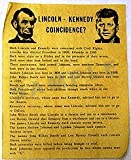 Lincoln-Kennedy Coincidence?