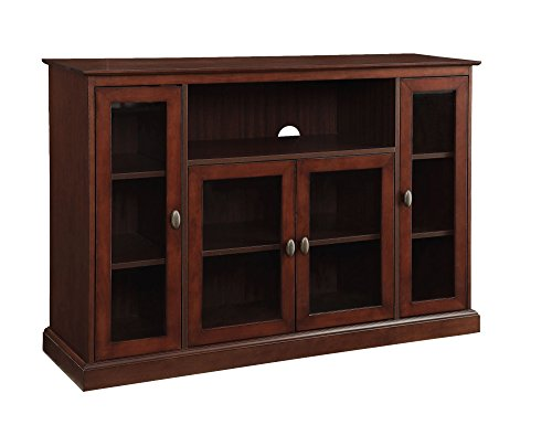 Convenience Concepts Designs2Go Summit Highboy TV Stand, Espresso (Bench Tv Glass)