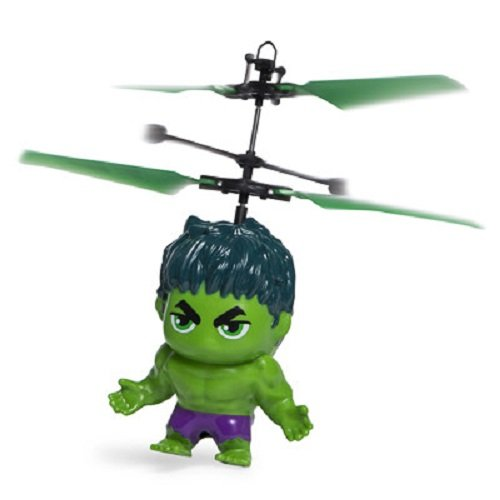 Marvel Heros Flying Copter - Fun Hand Control Levitating Heli Ball - Figure Flies up to 15 Feet for Indoor RC fun! (Hulk Figure)